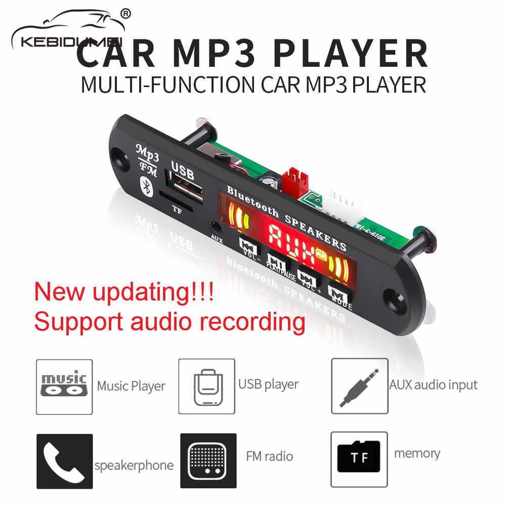 5 V-12 V Bluetooth inalámbrico de radio FM kit manos libres de coche receptor de Audio USB 3,5mm TF aux jugador universal para BMW coches Audi.