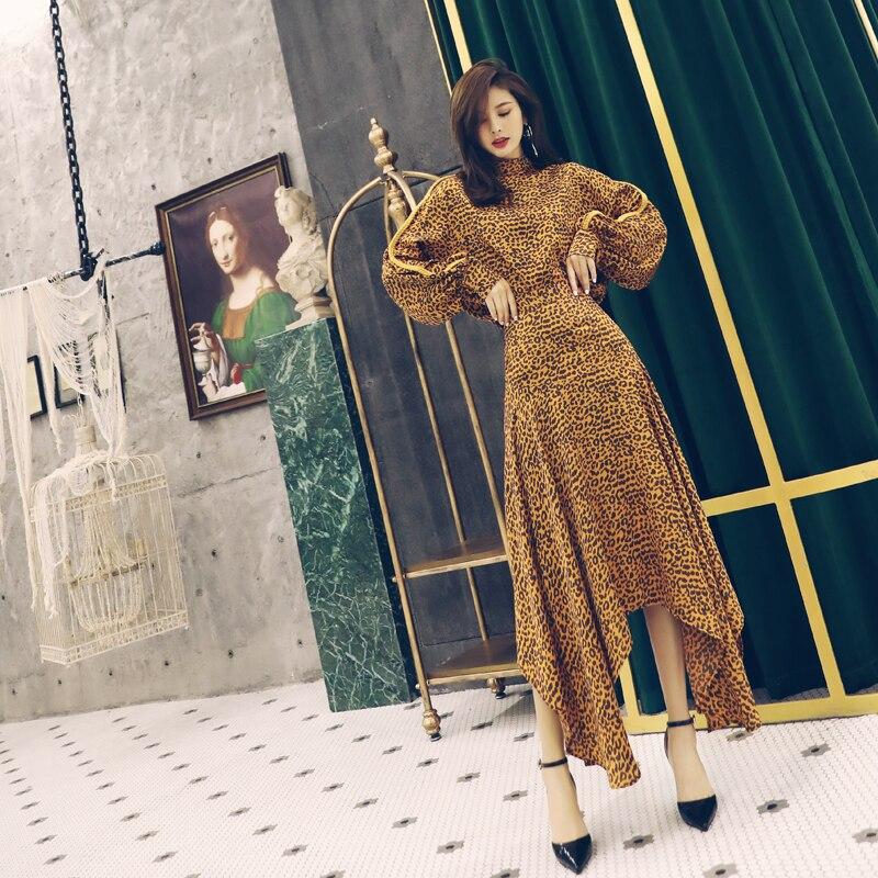 Falda Irregular Conjuntos Manga beige Establece Pring 2 R212 Alta Larga Cintura Las De Nuevos Con Mujeres Dos Piezas Camisa Yellow Mujer Leopardo q7WwPtFAE