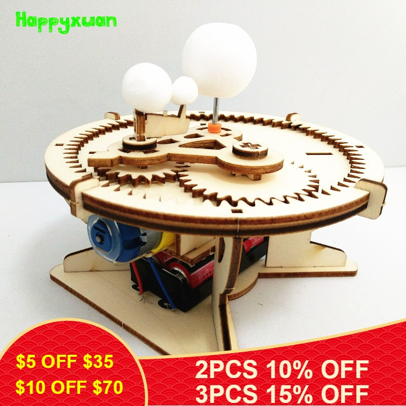 Happxuan Astronomy Gifts Sun Earth Moon Planet Solar System Model DIY Kid Science Geography Toys STEM