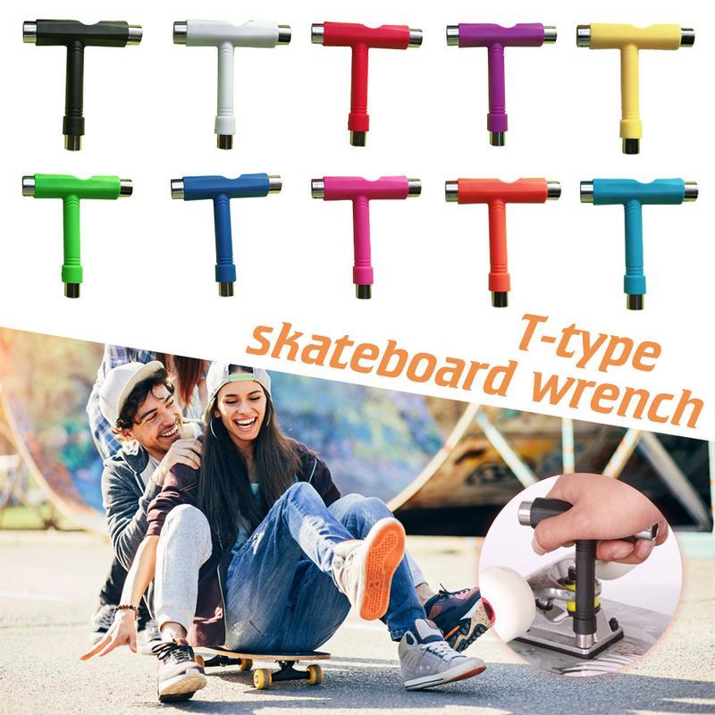 Роликовых коньках скейт скутер инструменты для скейтборда мини удар T Тип ключ инструменты аксессуары