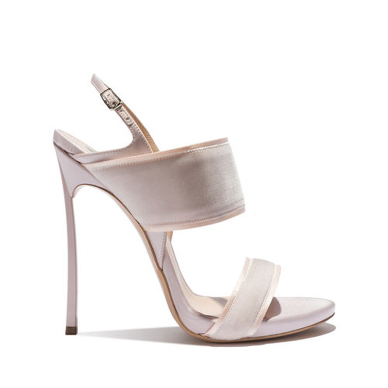 Carole Levy New Solid Color White in Open Toe Shoes For Woman with Super High Heels Ankle Buckle Strap For CasualCarole Levy New Solid Color White in Open Toe Shoes For Woman with Super High Heels Ankle Buckle Strap For Casual