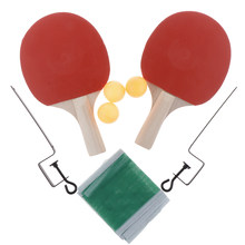Ping Pong Paddle Set (2-Player Bundle) 3 Ping Pong Paddles ABS Balls | Full Table Tennis Set for Indoor & Outdoor Play(China)