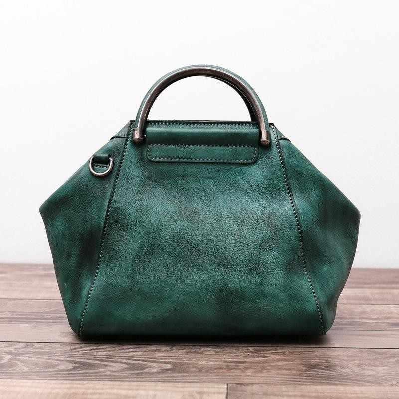 2018 New Handmade Hobos Genuine Leather Soft Vintage Women Handbag Shoulder  Messenger Bag Real Cowhide Feminina 8170acbae4