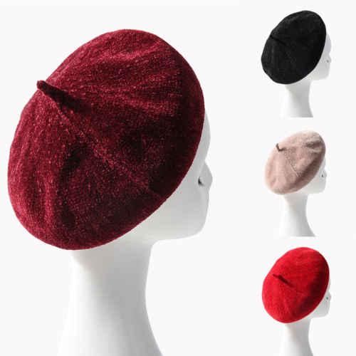 Простой берет шляпа осень для женщин обувь для девочек модные шапки Французский Берет Зима Великобритания