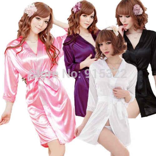 セクシーなシルクやレースの着物の女性ドレス着物 + g ストリング