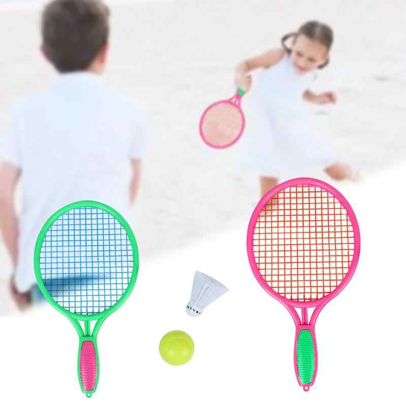 Plastic Outdoor Beach Tennis Racket Children's Outdoor Sports Tennis Racket With Badminton Ball