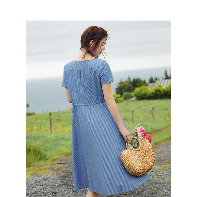 INMAN 2019 летнее новое поступление с v-образным вырезом в ретро-стиле, подчеркивающий талию, тонкое женское платье