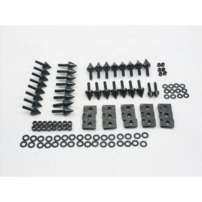 Motorcycle <font><b>Fairing</b></font> Spike Screw Bolts Kit fit For 2002 <font><b>2003</b></font> <font><b>Yamaha</b></font> YZF-<font><b>R1</b></font> YZFR1 yzf <font><b>r1</b></font> 02-03 Aluminum Accessories Black / Silver image