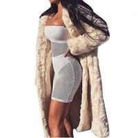 Street Fashion Plus Size Women's Winter Long Hooded Coat Faux Fur Thicken Keep Warm Fluffy Jackets Windproof Overcoat S XXXL