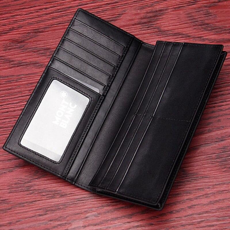 Marque de luxe portefeuille long pour homme Vêtements À Coudre Tissu En Cuir Véritable