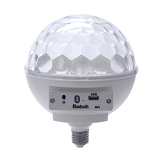 White  6W Bluetooth Music Bulb Led Lamp E27 Magic Ball