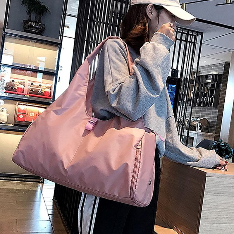 Pink Black Sport Gym Training Bag Men Women Fitness Gymnastics Travel Bag