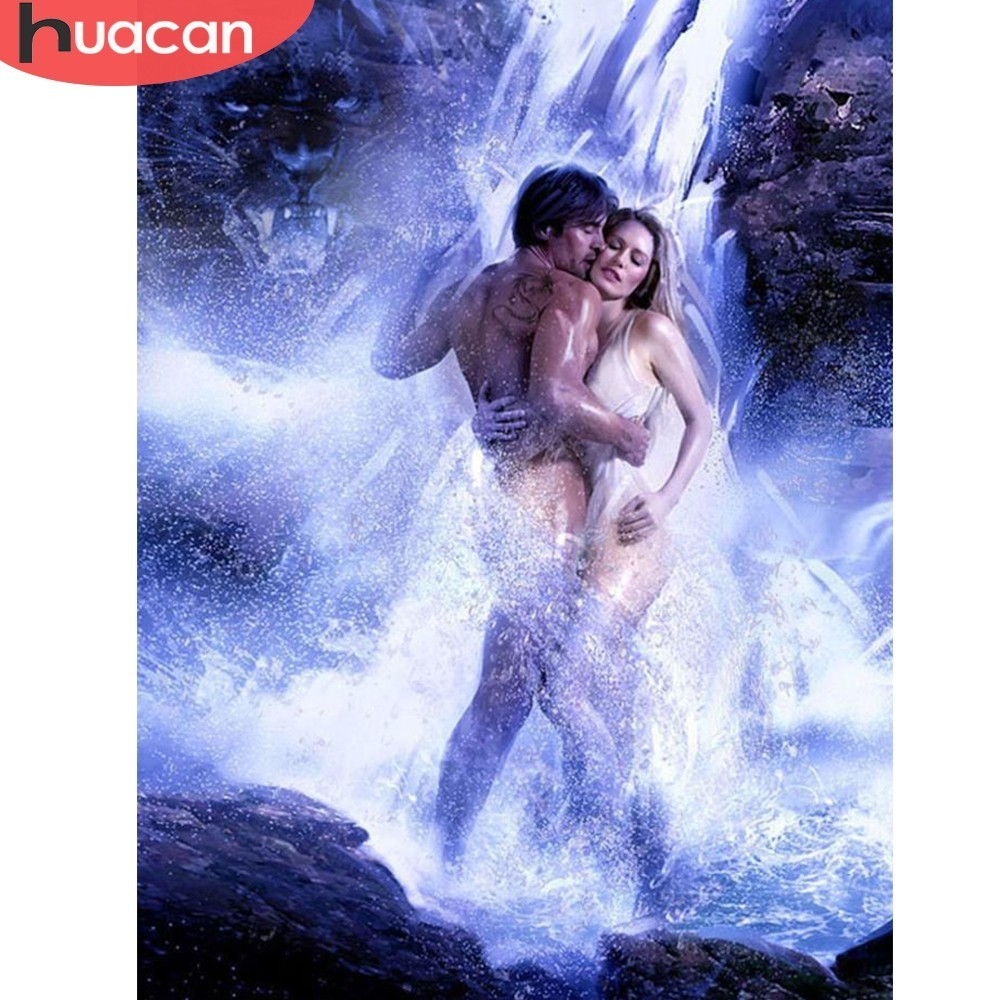 HUACAN Diamond Embroidery Sexy Couple 5D DIY Diamond Painting Full Drill Square Waterfall Picture Of Rhinestone Home Decoration HUACAN Diamond Embroidery Sexy Couple 5D DIY Diamond Painting Full Drill Square Waterfall Picture Of Rhinestone Home Decoration