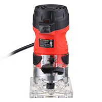 220V 600w 30000r/min Collet 6mm Corded Electric Wood Engraving Machine Hand Trimmer Wood Router Woodworking slotting machine