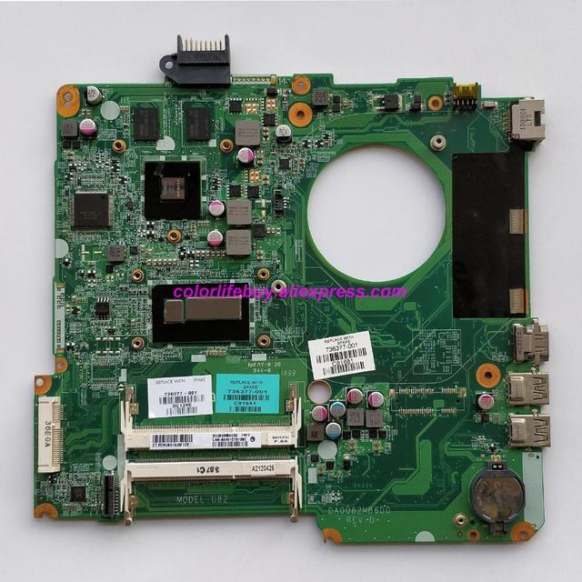 Oryginalne 736377 501 736377 001 736377 601 DA0U82MB6D0 REV:D 740M/2GB i5 4200U Laptop płyta główna do notebooków HP 15 N