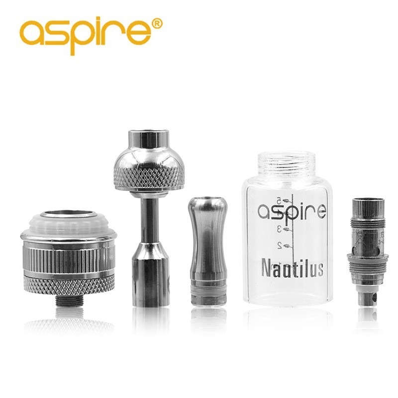 Promotion 5Ml Original Aspire Nautilus BVC Tank Kit Aspire Nautilus Atomizer With 2 Free Aspire Coils BVC Atomizer Core As Gift