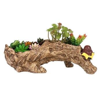 Модель дерева корня вазон для суккулентов садовые горшки для посадки растений открытый Botanic сад красивый садовый цветочный горшок DIY5