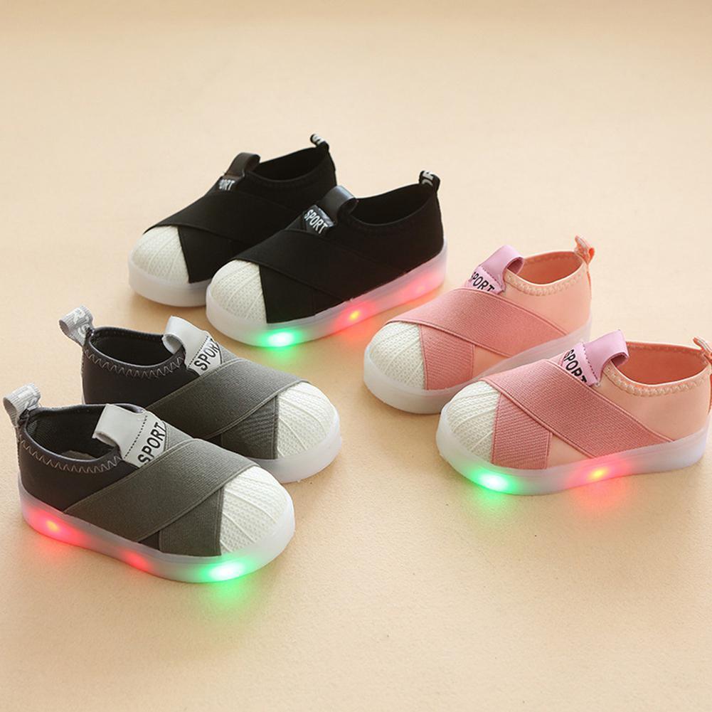 Anne ve Çocuk'ten Tenis Ayakk.'de Kidlove Çocuk spor ayakkabı led ışık Taban Çocuk Kız Yüksek Elastik rahat ayakkabılar title=