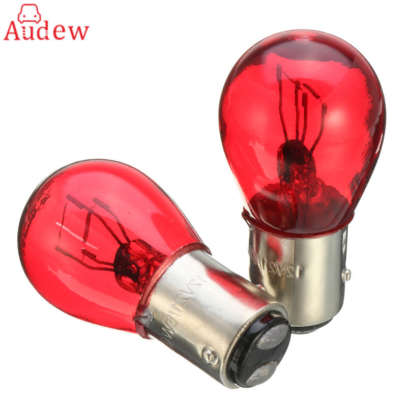 2Pcs BAW15D Red Brake Stop Tail Light Car Bulb 567 12V 21/5W Turn Signals Warning Lights For GM/Ford/SAAB
