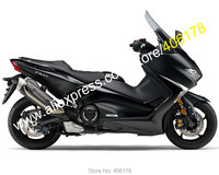 Hot Sales,For Yamaha TMAX530 17 18 TMAX 530 T MAX 530 2017 2018 Gloss Black + Matte Black Sportbike Fairing (Injection molding)
