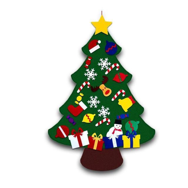 Regali Di Natale Per Bambini 1 Anno.Us 5 61 31 Di Sconto Bambini Fai Da Te Feltro Albero Di Natale Con Ornamenti Di Natale Per Bambini Giocattoli Regali Di Nuovo Anno Porta Decorazione