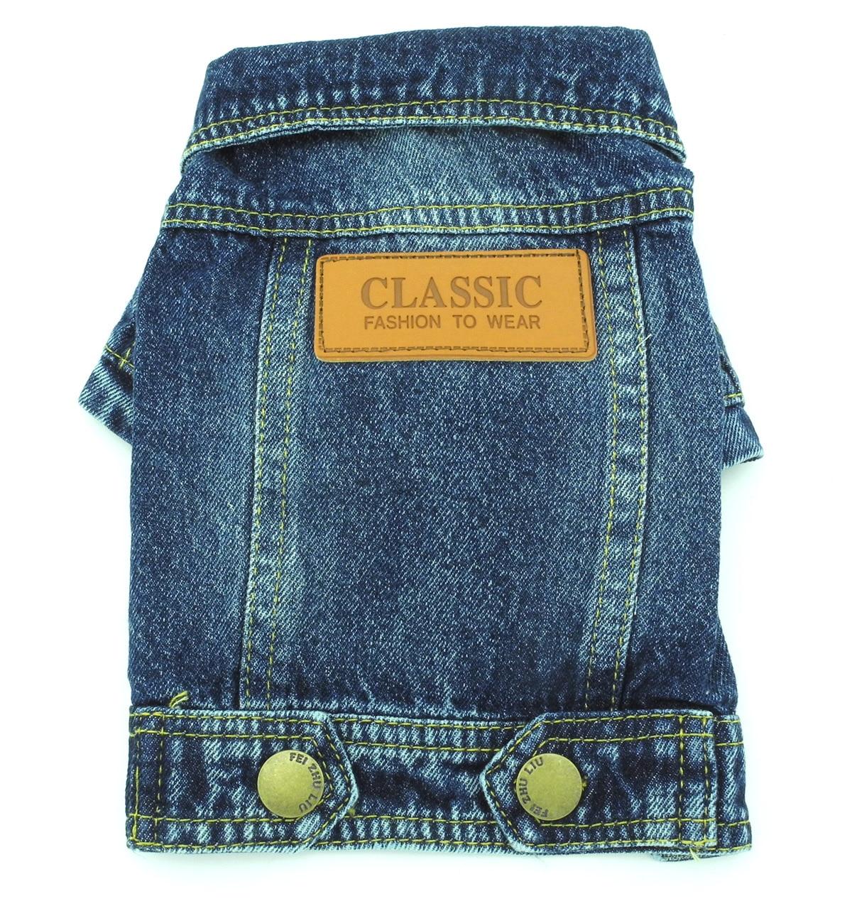 Kisállat klasszikus farmer dzseki kabát farmer férfi ruha kis - Pet termékek