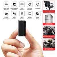 8 GB 16 GB Mini magnetyczny głos rejestrator przenośny doskonałą ukrycia Stealth HD profesjonalny pilot redukcji szumów rejestrator