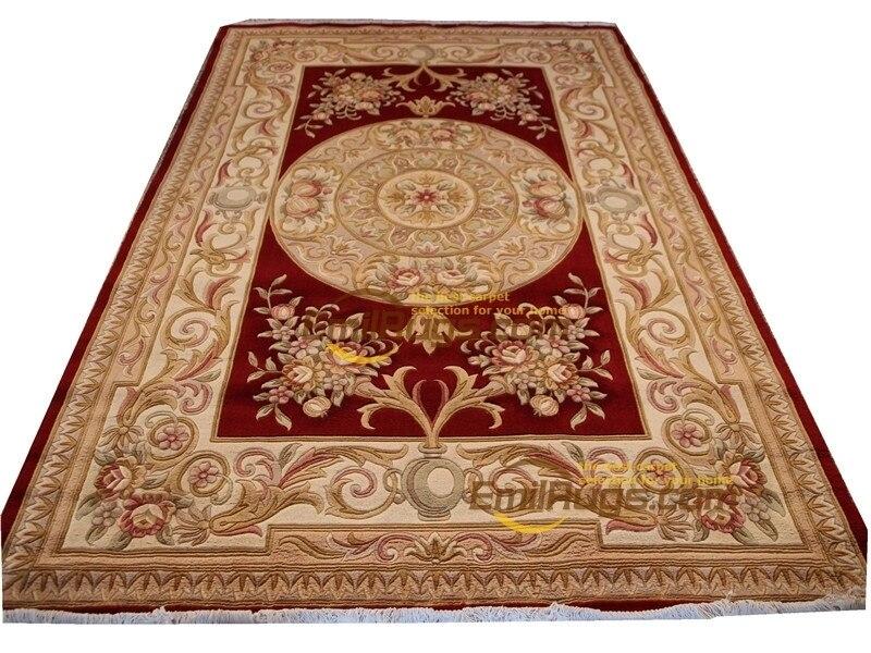 Tapis de fourrure de mouton à tricoter cloches romaines tapis de coureur pour la décoration de la maison Antique Vintage laine à tricoter tapis