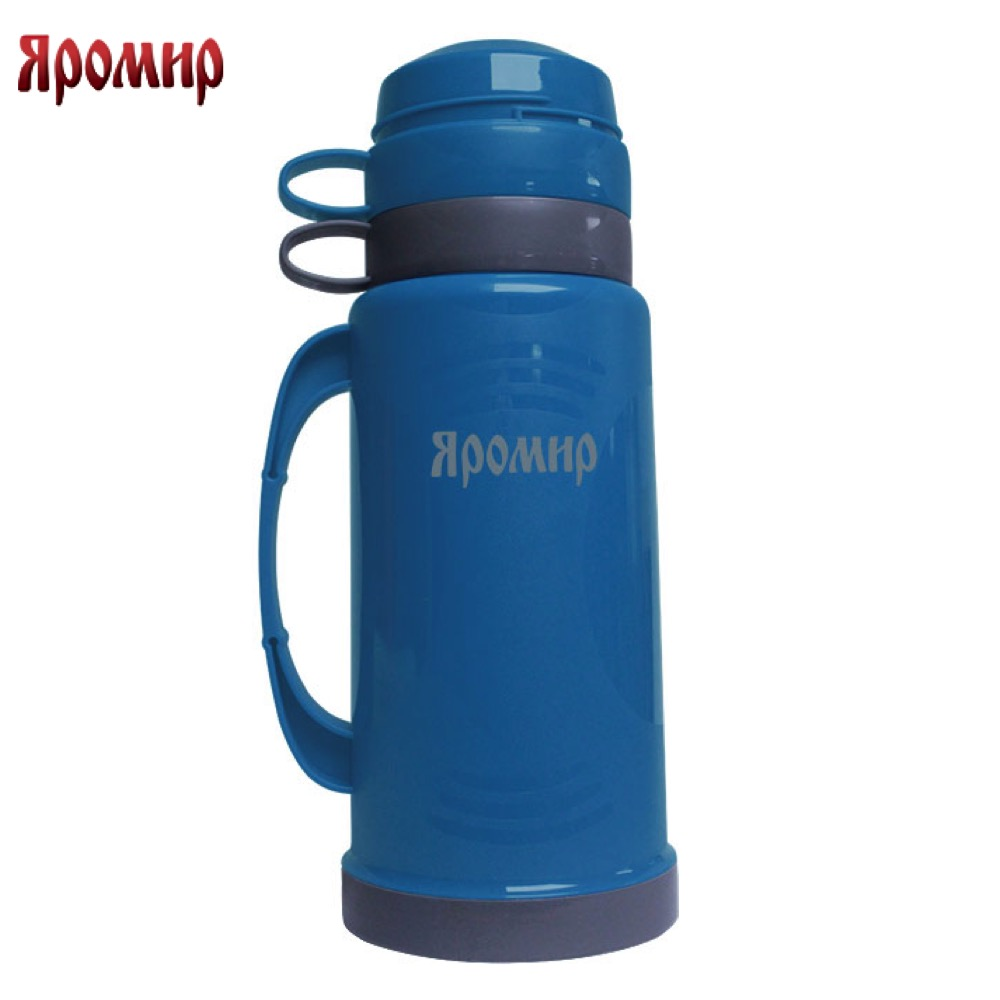 Vacuum Flasks & Thermoses Yaromir YAR-2020C Blue/Grey thermomug thermos for tea keep сup stainless steel water mug food flask 9 stainless steel food utility tong