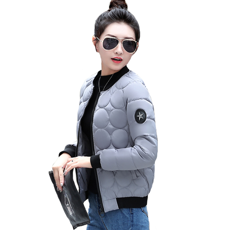 2018 Winter   Jacket   Women Stand Collar Cotton Padded Autumn   Basic     Jacket   Short Outwear Jaqueta Feminina Inverno Female coat
