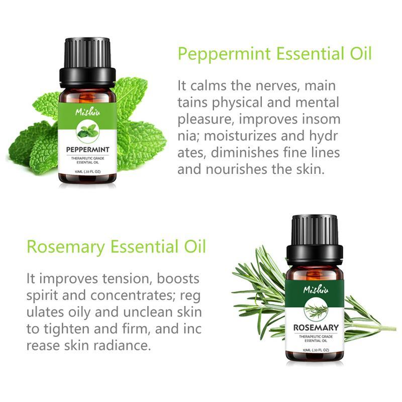 Moisturizing Pure Essential Oil Set 10ml Botanical Aromatherapy Diffusers Massage Essence Oil Body Relax Skin Care Help Sleep