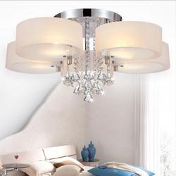 Nowoczesny kryształ Led żyrandol Lampy Led ze stali nierdzewnej K9 kryształowe żyrandole oświetlenie E27 Led światła Led Lustre żyrandol|Żyrandole|   -