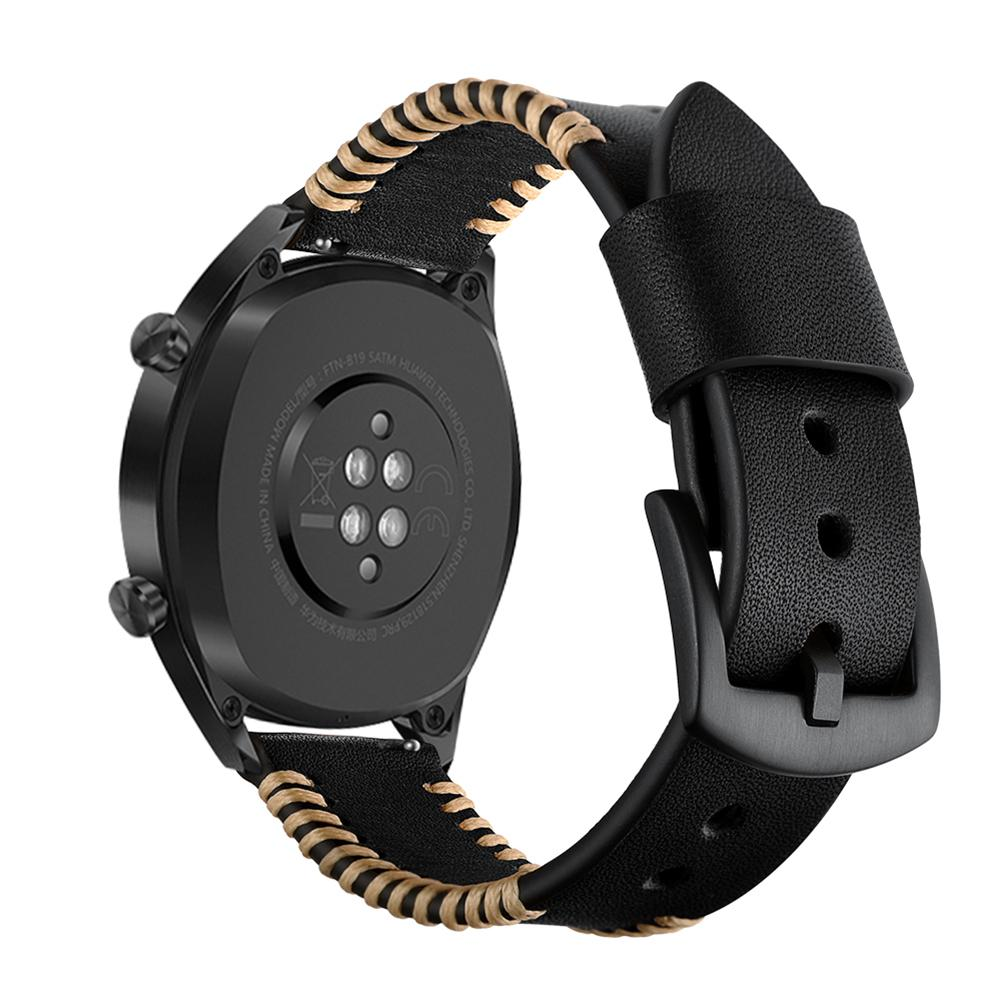 Image 5 - 22MM Smart Replacement Wristband Genuine Soft Comfortable Adjustable Sports Watch With Leather Watch Strap Ribs Type New-in Smart Accessories from Consumer Electronics