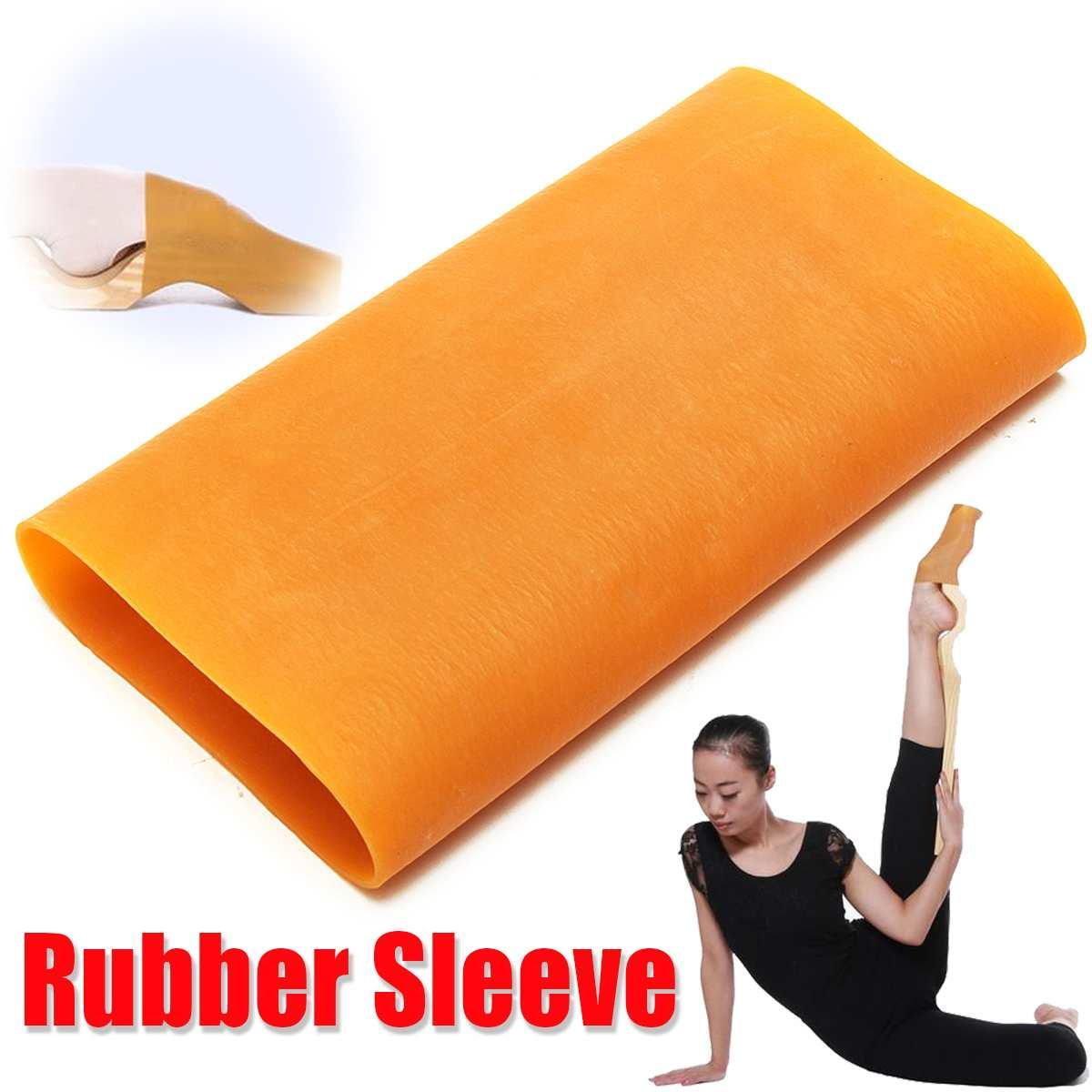 Ballet Dancer Cuff Dancing-Gymnastics Soft-Elastic Rubber-Sleeve for Ballet-Foot-Stretcher