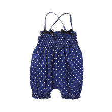 Kids Baby Baby Girl Chiffon Overalls Jumpsuit Sunsuit Romper Broek Outfit Zomer Band Dot Rompertjes Broek(China)
