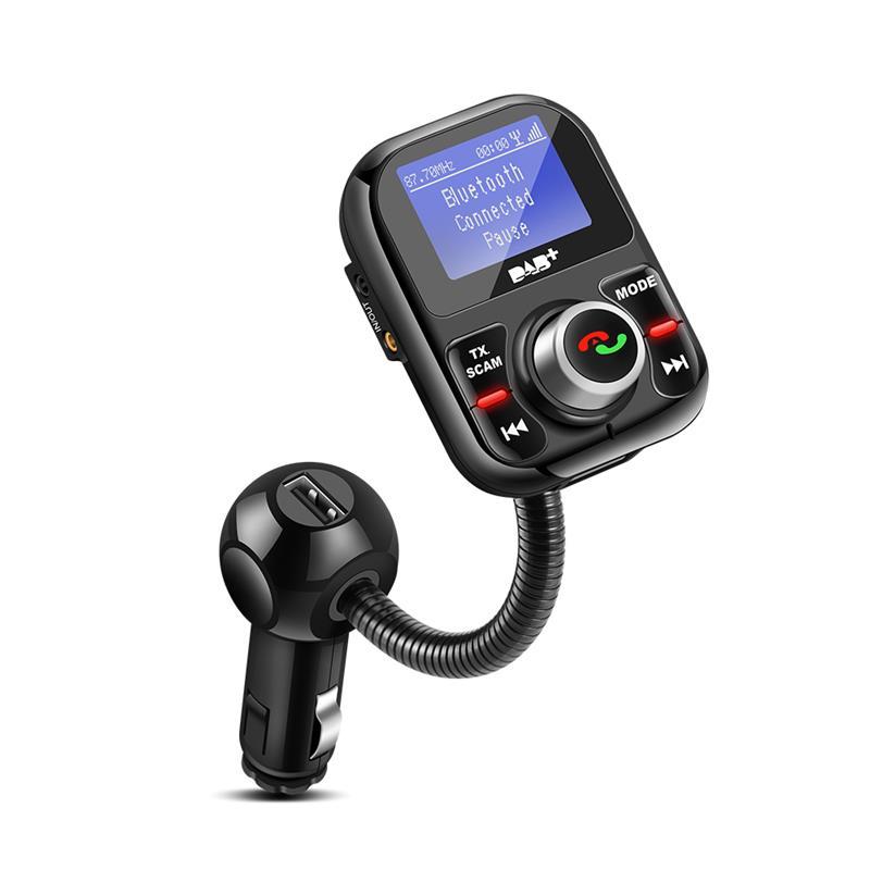 Car DAB Digital Radio In Car FM Transmitter Bluetooth Hands Free Kit Digital Audio Broadcast With