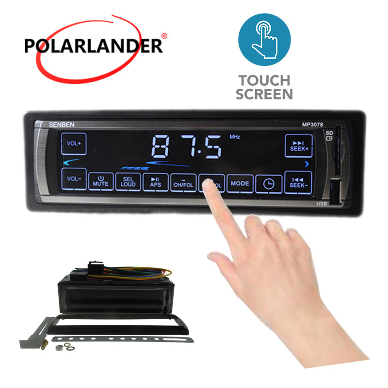 2015 New All touch screen control Car Radio Stereo Player touch screen MP3 FM/USB/remote control 12V Car Audio Auto