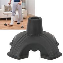 Забота о здоровье тростниковый наконечник самостоятельно стоящий резиновый четыре опорные опоры Противоскользящий тростниковый коврик для костыля 19 мм