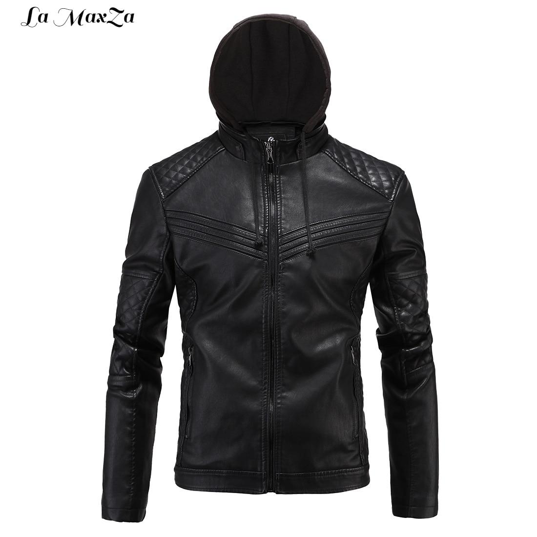 Moto Stand Poches Angleterre Style Hommes Manteau Faux Slim Cuir En Noir Pu Veste Vestes D'hiver 1fwOFgxqw