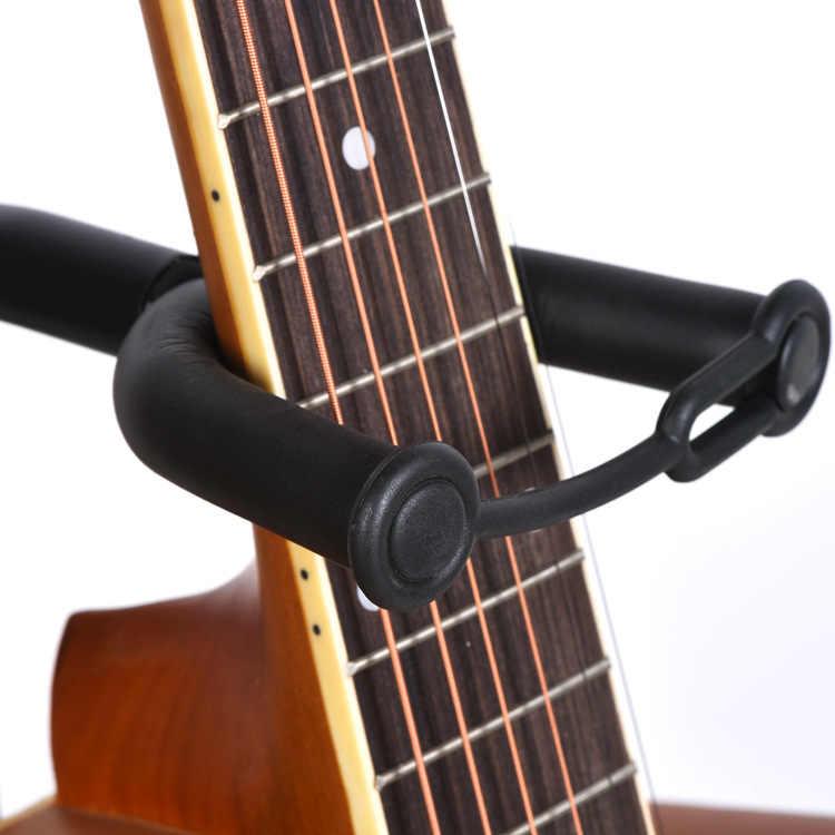 Musician'S Điện Acoustic Và Bass Guitar Đứng Bảo Vệ Nỉ Lớp Đệm Cao Su Màu Đen