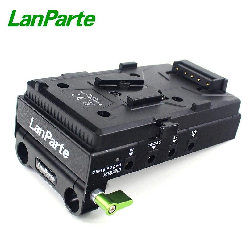 LanParte v-mount chargeur de plaque de pincement de batterie plusieurs sorties d'alimentation DC d-tap USB port HDMI spliter pour appareil photo reflex numérique