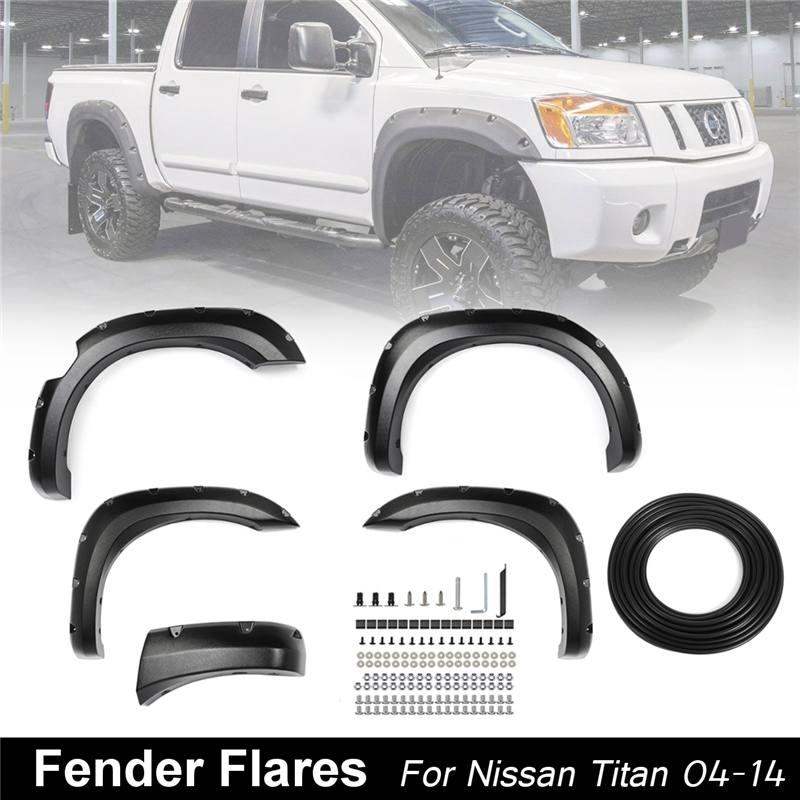 Nouveau 5 pcs/ensemble Noir Sourcil De Roue De Voiture pour fusée éclairante Extension De Moulage Garniture Protecteur Garde-Boue pour Nissan pour titan 04- 14