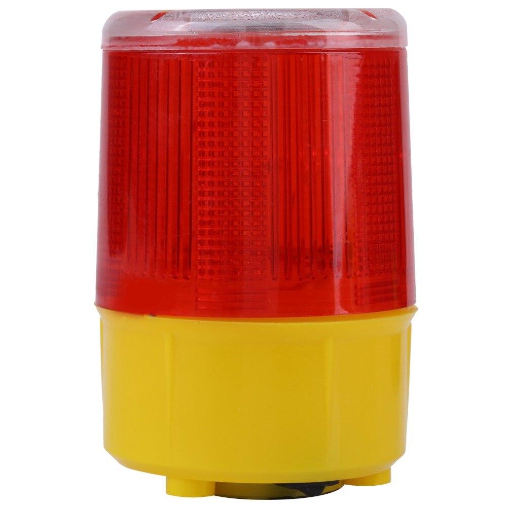 1pc 2.5w 3v Solar Led Emergency Warning Flash Light Alarm Lamp Traffic Road Boat Red Light 2019 New Arrival Security Alarm