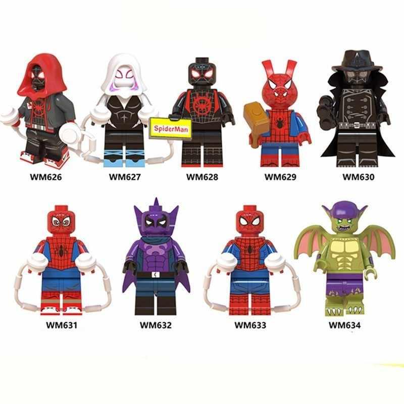 Железный человек Человек-паук фильм фигурки Дэдпул строительные блоки модель игрушки для детей Совместимые Legoings супергерои, Мститель паук