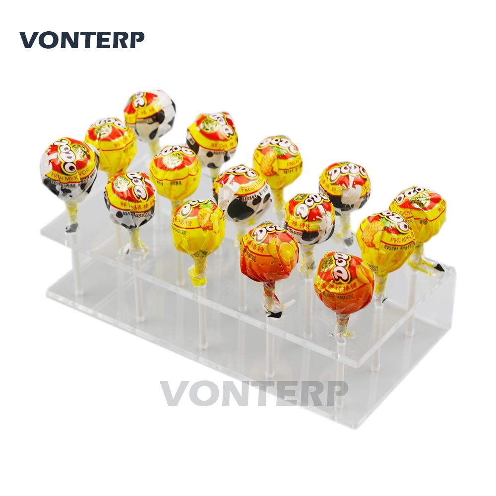 VONTERP 1 PC 15 holes Transparent Plexiglass Acrylic Lollipop Display Stand/Acrylic lollipop stand/Holder