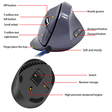 hot deal buy vertical mouse wireless desktop for video gamegaming mouse mice optical right hand mice with wrist mat for pc laptop