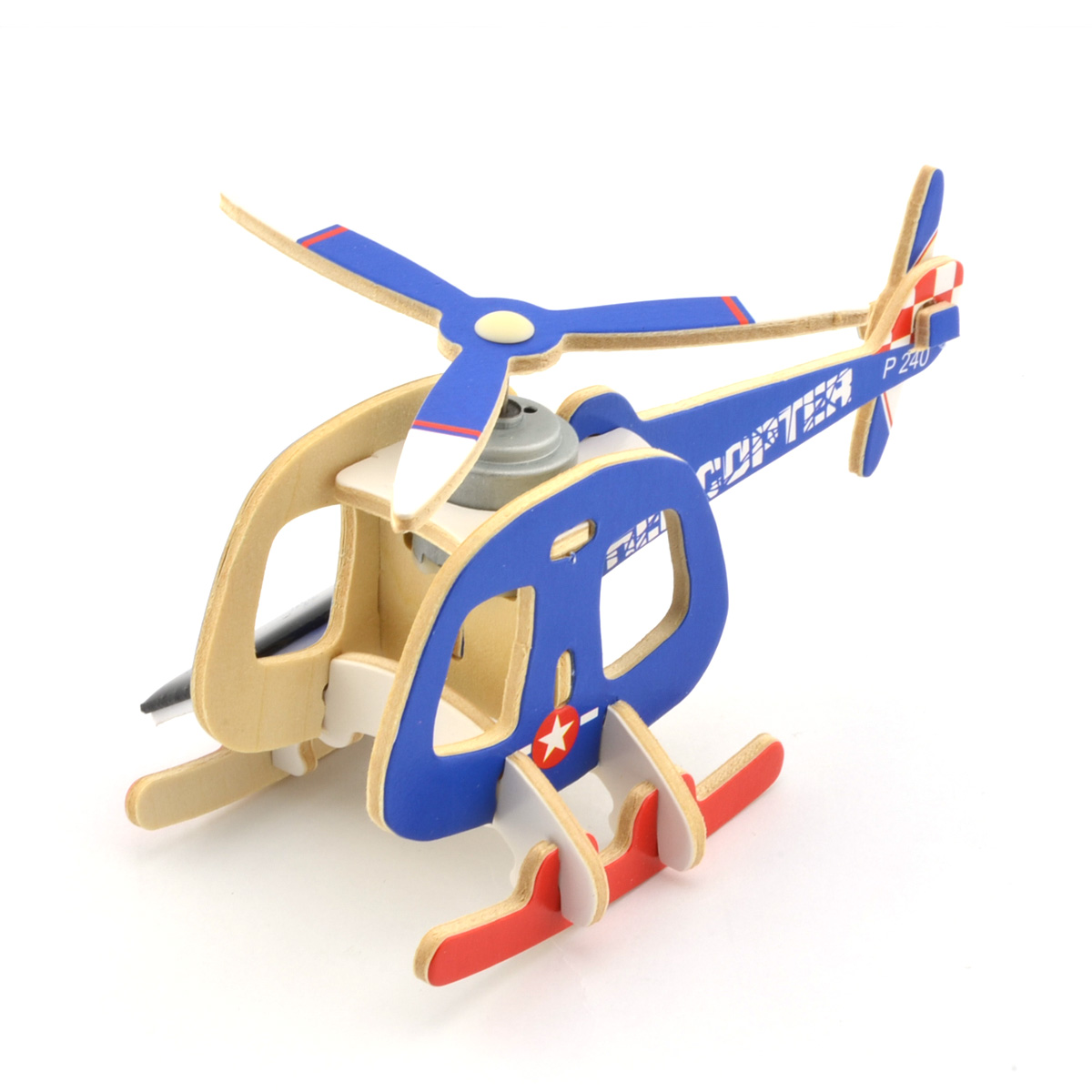 Funny Kids Diy Educational Assembly Puzzle Solar Powered 3d Wooden Scorpion Twin-engine Helicopter Aircraft Woodcraft Toy Puzzles