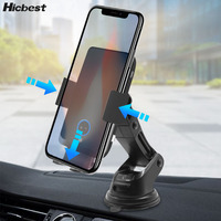 10w Auto Clamp Infrared Qi Wireless Car Charger Phone Clip Holder Fast Charge Induction Charger Mount for iPhone LG Nokia Huawei