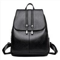 LJL New Laptop Backpack Women Leather Luxury Backpack Women Fashion Backpack Satchel School Bag
