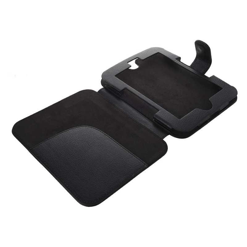 AAAJ-Leather Case voor Barnes And Noble Nook Eenvoudige Touch met GlowLight, Zwart